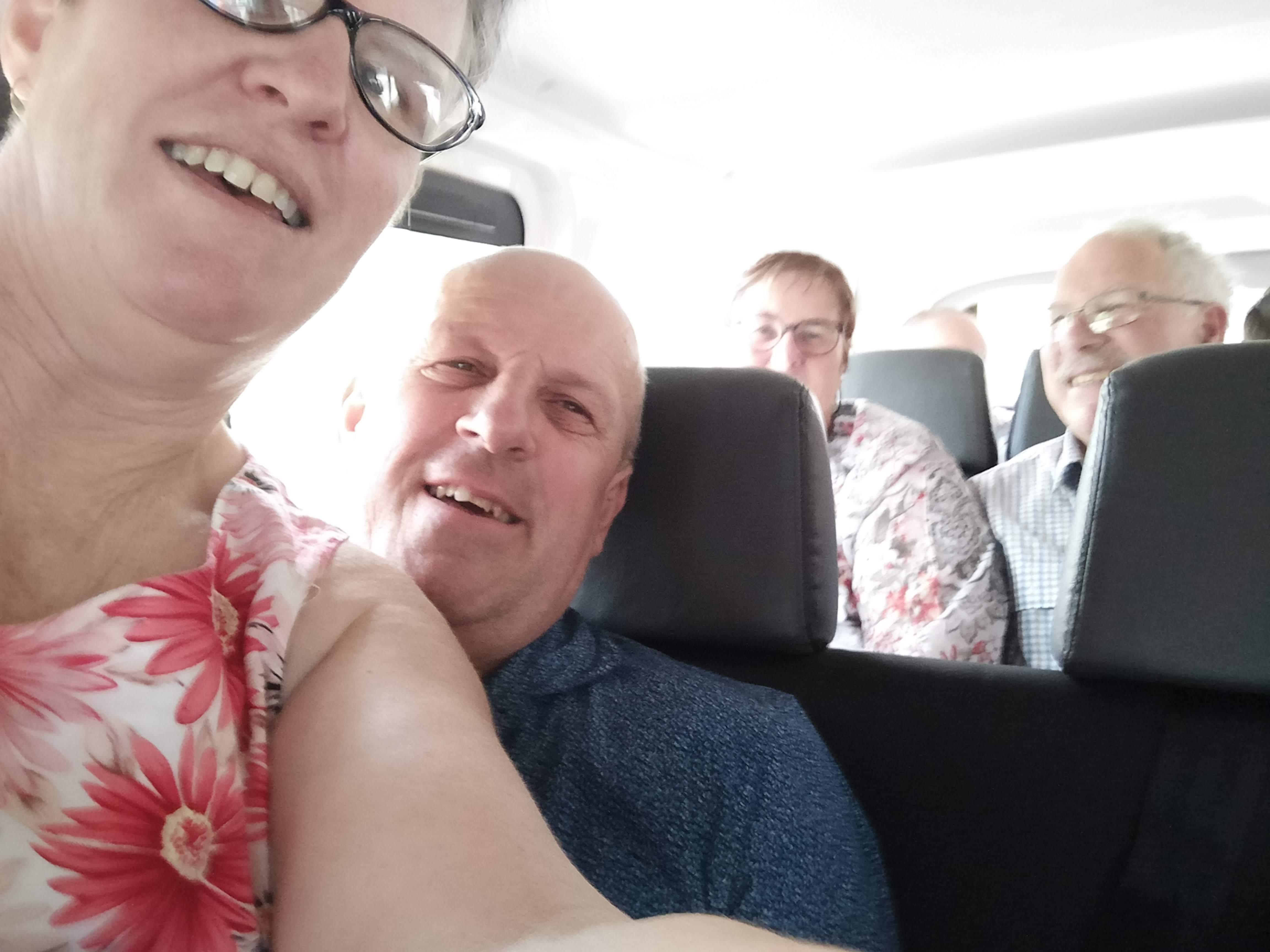 11 Squashing on the mini bus